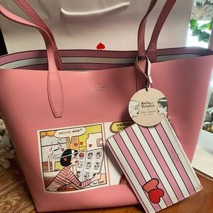 NWT. Kate spade Archie Large Reversible Tote Bag